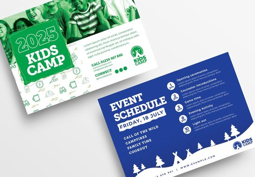 Kids Camp Flyer Layout for Summer School