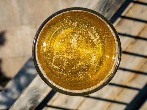 golden cider in glass
