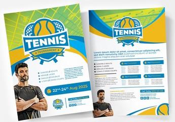 Tennis Tournament Poster Layout