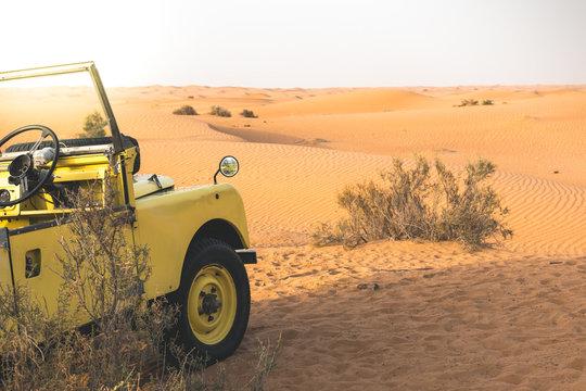 Land Rover in the desert of Dubai - UAE