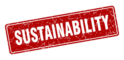 sustainability stamp. sustainability vintage red label. Sign
