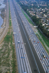 Fototapete - The Route 91-New Smart Highway, Toll Road in Orange County, California