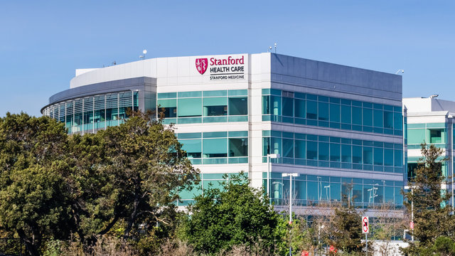 Apr 22, 2020 Redwood City / CA / USA - Stanford Health Care facility; Stanford Health Care comprises a network of medical facilities and doctors located around the San Francisco Bay area
