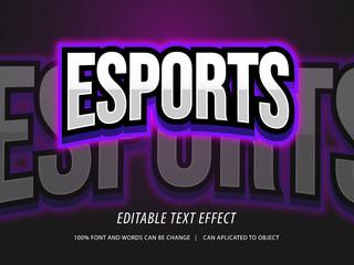 editable esport logo style text effect mockup
