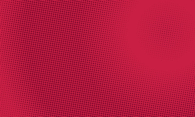 Abstract red background retro comic style halftone pop art