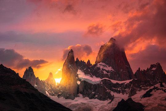 Mount Fitz Roy in Patagonia Argentina