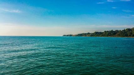 Fototapeta Idyllic Shot Of Lake Michigan Against Sky