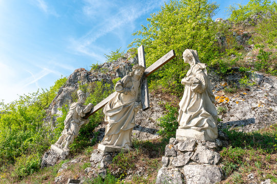 Stations of the Cross Jesus monument in Lower Austria, Europe