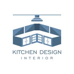 Cabinet Furniture Kitchen Set Interior Graphic Vector Logo Design