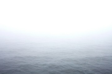 Obraz Idyllic View Of Sea Against Sky During Foggy Weather - fototapety do salonu