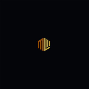 geometric initial M L letter logo design