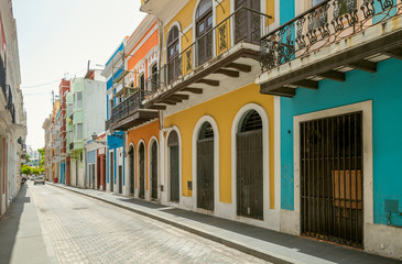 Colorful houses in old San Juan, Puerto Rico
