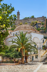 Fototapete - Catholic Church, Nafplio, Greece