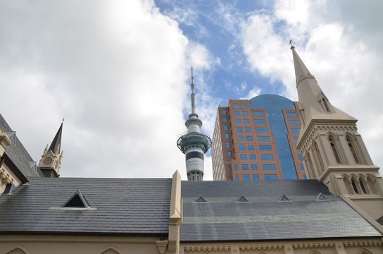 Couple of buildings in the city centre of Auckland New Zealand