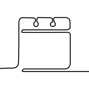 one line continuous drawing calendar