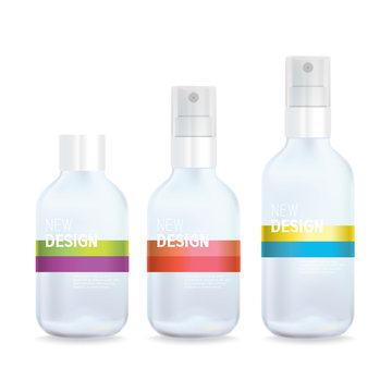 Vector Clear Spray Bottle with Minimal Design Features