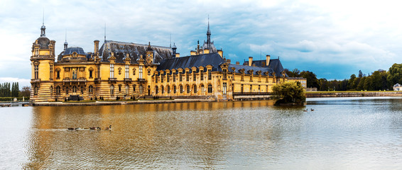 Beautiful Castles and historic monuments of France - royal Chateau de Chantilly
