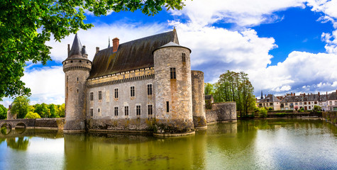 Travel and landmarks of France. medieval castle - Sully-sur-Loire