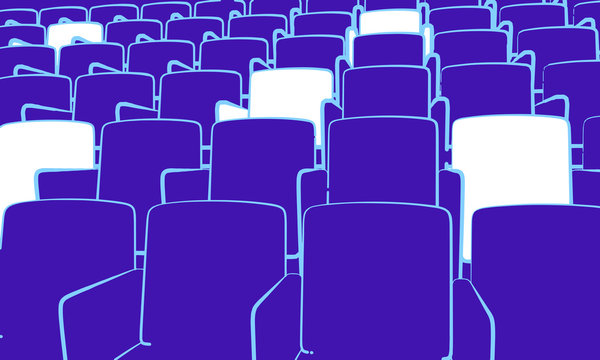 auditorium with social distancing reserved seats