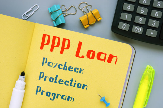 Conceptual hand writing showing PPP Loan Paycheck Protection Program