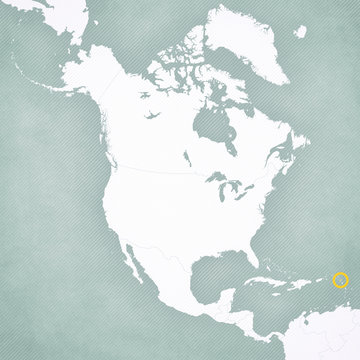 Map of North America - Guadeloupe
