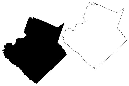 Gwinnett County, Georgia (U.S. county, United States of America,USA, U.S., US) map vector illustration, scribble sketch Gwinnett map