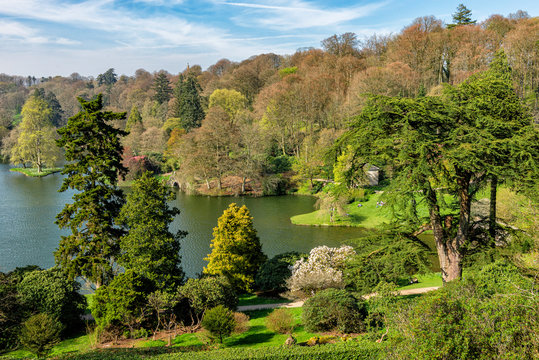Scenic and Beautiful Country Park in the Spring Season