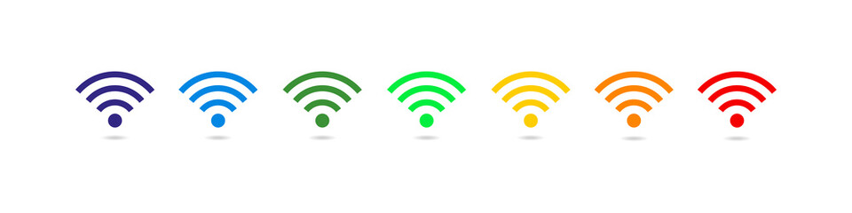 Wifi icons wireless internet connection signal. Wifi symbol set. Internet Connection. Vector ilustration