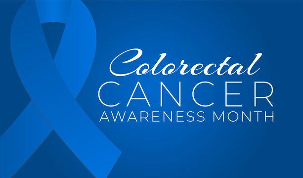 Blue Colorectal Cancer Awareness Month Background Illustration