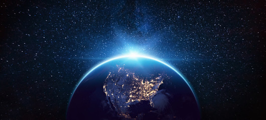 Wall Murals Nasa Planet Earth North America from the Space at Night. Elements of this Image Furnished by NASA
