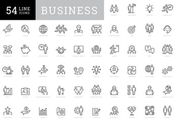 Business People Icon Set Art Kit