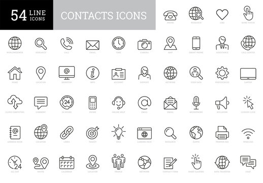 Contacts Icon Set Art Kit