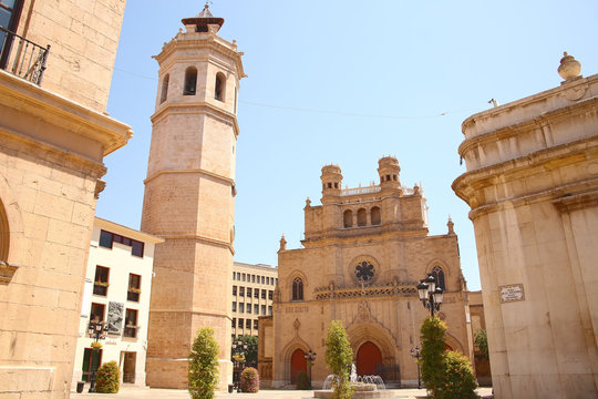 The Co-cathedral of Saint Mary or Maria is the cathedral of Castelló de la Plana, located in the comarca of Plana Alta, in the Valencian Community, Spain.
