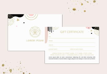 Abstract Business Gift Voucher Vector Layout