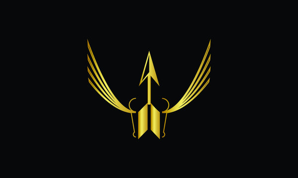 The concept of a luxurious gold logo