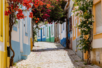 On the narrow Alleys of Ferragudo, Algarve, Portugal
