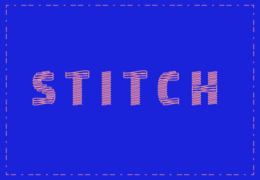 Stitch Style Text Effect