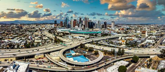 Fototapete - Los Angeles Skyline Sunset