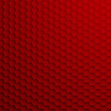 3D render - geometric hexagonal modern background, dark red