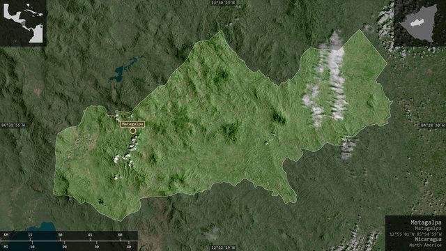 Matagalpa, Nicaragua - composition. Satellite