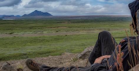 Looking toward the horizon, Icelandic Highlands