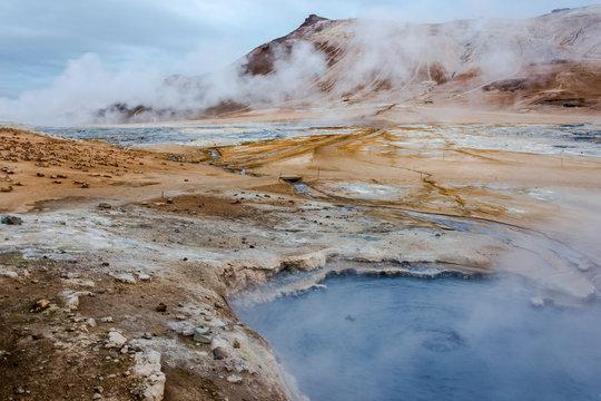Fumaroles, Hverarönd hot springs