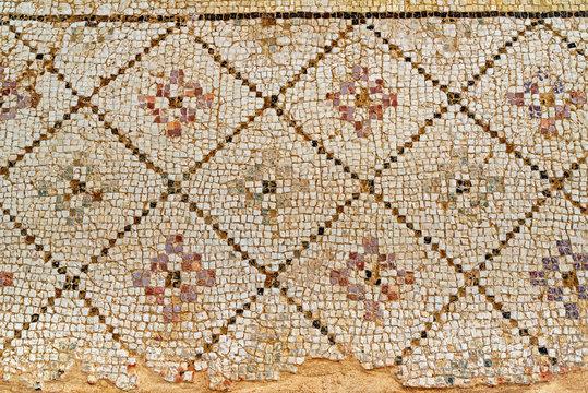 Mosaics in house of Eustolios (4th century), ancient Greek city Kourion, near Limassol, Episkopi Cantonment, Cyprus