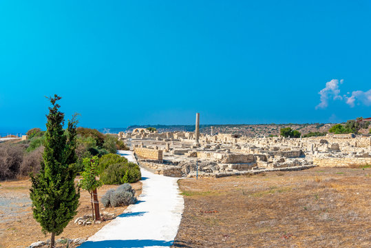 The ruins of the early Christian basilica of the beginning of the 5th century AD, Kourion (Cyprus)