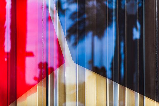 Streets of Alicante. Reflection in the window. Alicante province. Spain