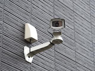 Fototapete - 集合住宅に設置された防犯カメラ