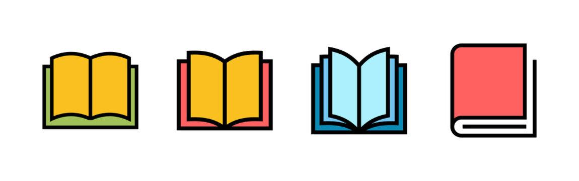 Book icons set. Book vector icon