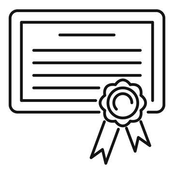 Born birth certificate icon. Outline born birth certificate vector icon for web design isolated on white background