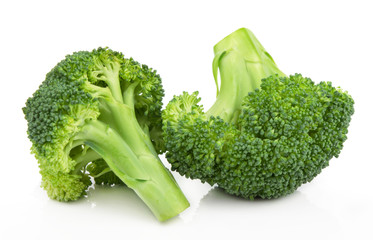 Keuken foto achterwand Verse groenten Block Kerry healthy fresh vegetable from nature isolated on a white background.
