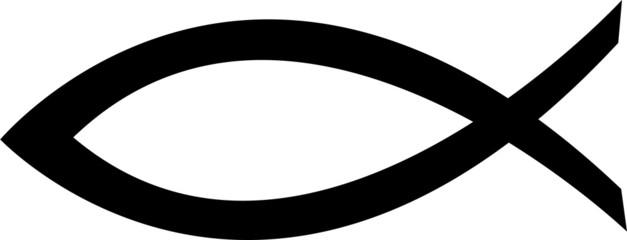 Christian fish symbol. Jesus fish icon religious sign